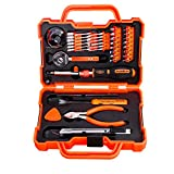 RockBirds Household Hand Tool Kit with Plastic Tool box, Orange, 47-Piece