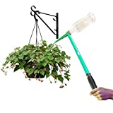Massca Hanging Plant Waterer - for Indoor and Outdoor Plants - 16'' Handled Funnel for Long Reach - Works with Standard Soda Bottles