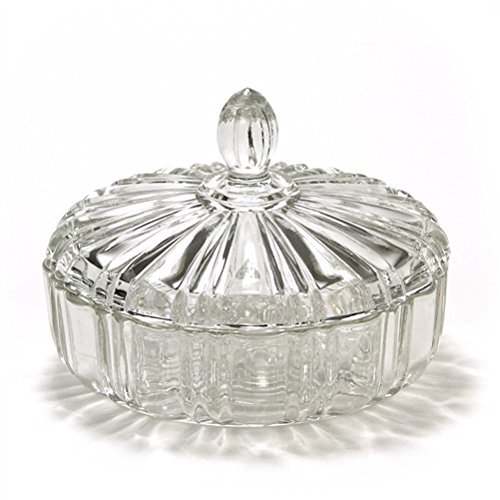 (Old Cafe Clear by Anchor Hocking, Glass Candy Dish)
