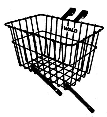 Wald 198 Front Bicycle Basket (14.5 x 9.5 x 9, Black) ()
