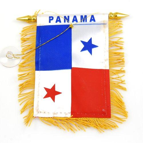 "Mini Banner ""Panama"" Auto Mirror 4""x6"" Flag"