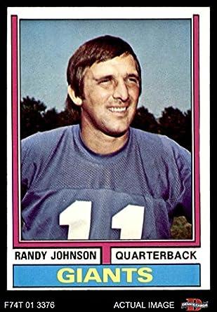 c9190b92be707 Amazon.com: 1974 Topps # 419 Randy Johnson New York Giants-FB ...