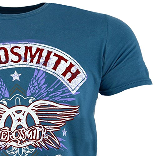 m camiseta Pride Boston Blue oficial Denim Aerosmith xn6f1OqwYn