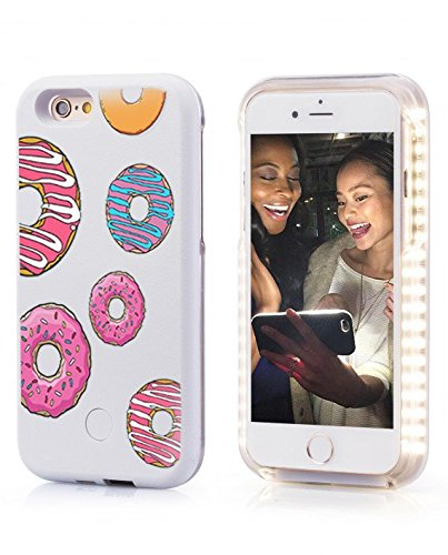TEK Lib Illuminated Case With Power Bank For The IPhone 6/6S - Illuminated Case Improves The Quality Of Selfies Donuts