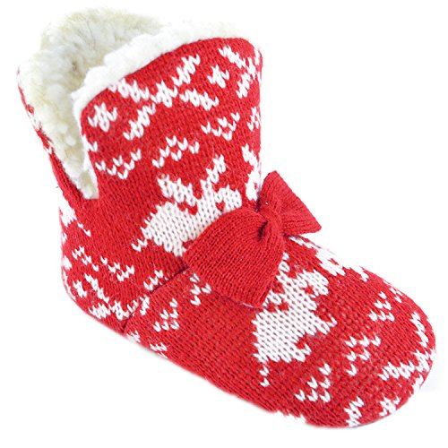 Rabbit Knit Print Bootie Slipper Boots