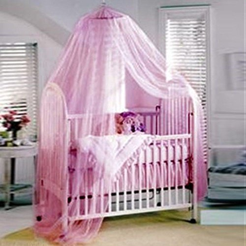 WALLER PAA Pink Mosquito Net Canopy netting for baby Toddler Crib Bed Cot Nursery (Pink)