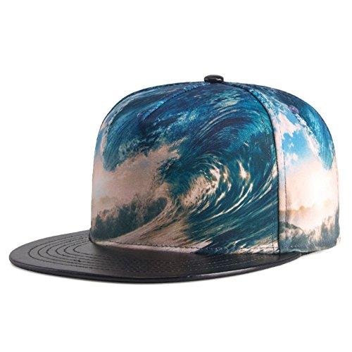 ArmoFit Men's Flat Bill Baseball Caps Snapback Hats Adjustable Dancing Hip Hop Cap -