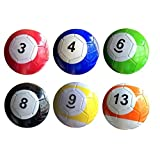 3# 16 Pcs Gaint Snooker Soccer Snook Ball 7 Inch In Snookball Game Huge Billiards Pool Football Include Air Pump Toy Poolball