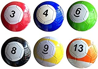 3 # 16 pcs Gaint Snooker Soccer Snook'Boule 17,8 cm dans Snookball Jeu énorme Réservoir de billard de football Incluent Pompe à air jouet Poolball (3 #, A)