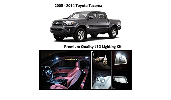 Amazon.com: 2005 - 2015 Toyota Tacoma White LED Package Vanity Interior Tag Reverse (7 Pieces): Automotive