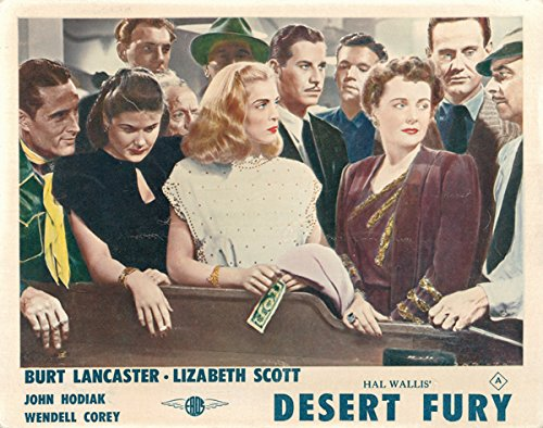 Desert Fury Original Lobby Card John Hodiak Lizabeth Scott craps table casino from Silverscreen