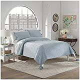 Marble Hill 15788BEDDKNGSPA Nadia 110-inch by 96-Inch 3-Piece King Quilt Set, Spa