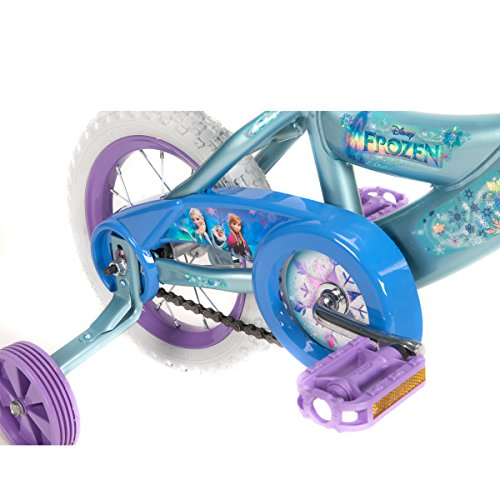Disney Frozen 12-inch Bike by Huffy, Recommended for Ages 3-5 and a Rider Height of 37-42 inches, with Fun Graphics of Elsa, Anna, and Olaf, Style 22235 by Huffy (Image #6)