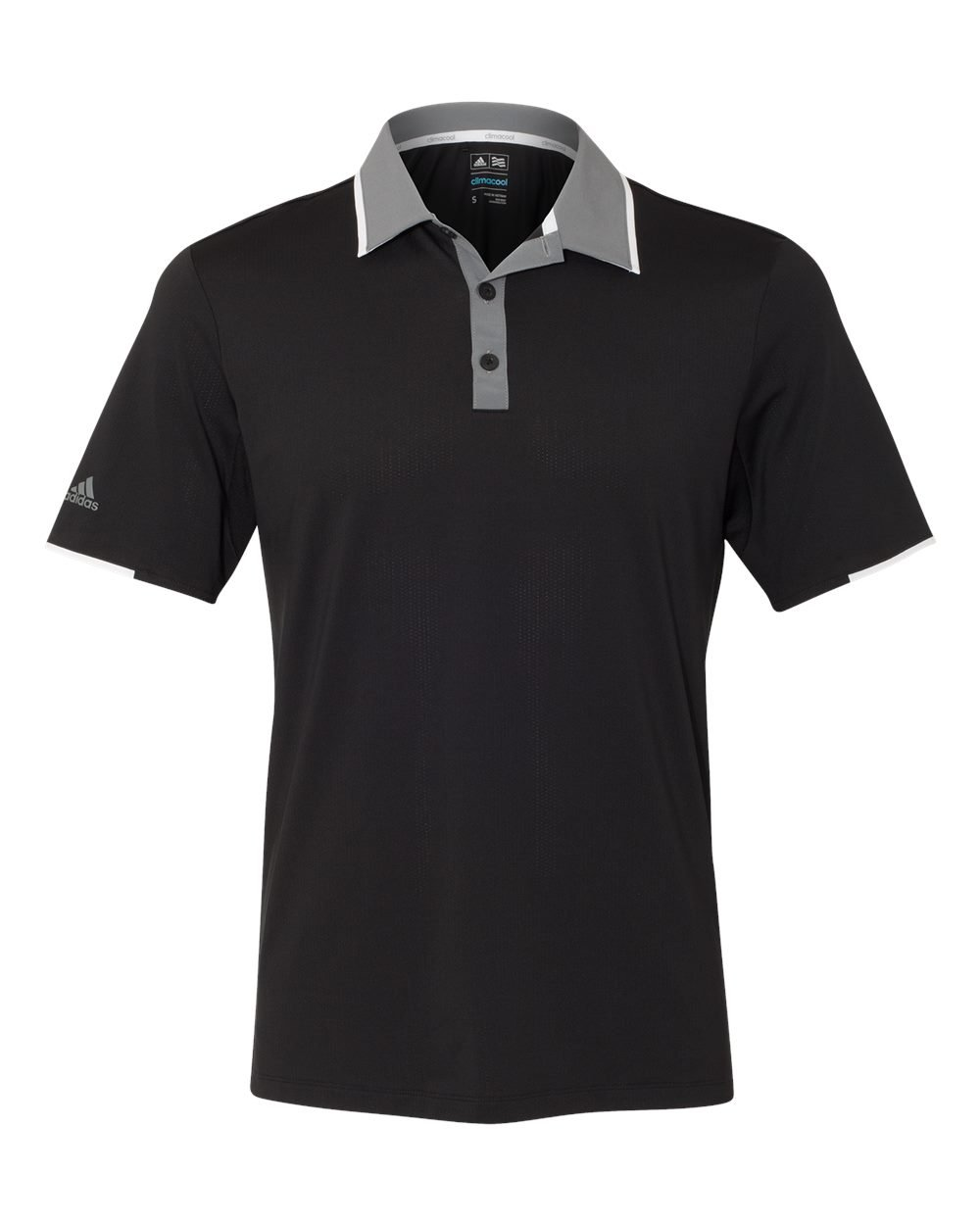 adidas Golf Mens Climacool Performance Polo (A166) -Black/Vist -3XL