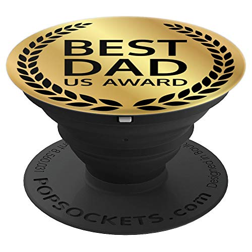 Best Dad in America Award for fathers by their loving Kids - PopSockets Grip and Stand for Phones and - Pedestal Award