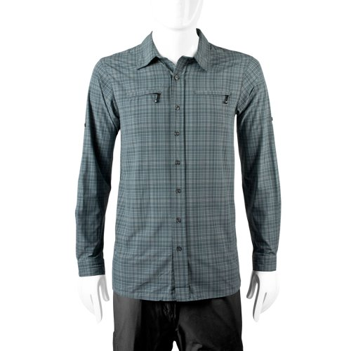 ATD Men's Urban Pedal Pushers UPF 50+ Commuter Dress Shirt (X-Large, Gray)