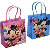 Disney Mickey and Minnie Mouse Character 12 Premium Quality Party Favor Reusable Goodie Small Gift Bags