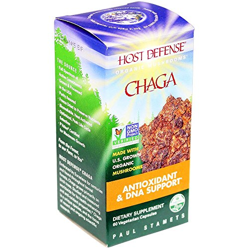 Host Defense - Chaga Capsules, Mushroom Antioxidant & DNA Support, 60 Count (FFP)