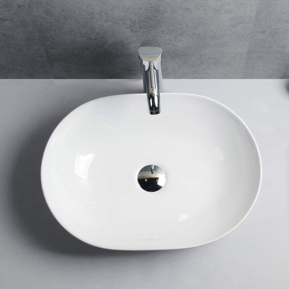 Gimify Aufsatzwaschbecken rund Design Keramik Handwaschbecken f/ür WC Badezimmer