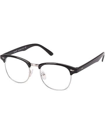 9a0f357260 Cyxus lumière bleue lunettes demi-trame [Transparent Lentille] anti fatigue  oculaire, grande