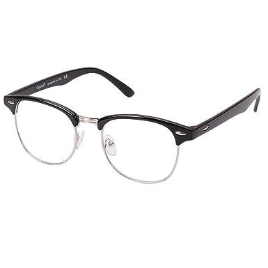 dettagli per bellissimo aspetto outlet in vendita Cyxus Filtro luce blu [Semi-senza montatura] Occhiali per computer,  anti-affaticamento Occhiali con lenti chiare, unisex (uomo/donna)