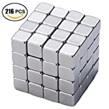 #9: Magnetic Cube 3MM 216 Cubes Set Puzzle Multi-Use Square Office Desk Stress Relief Toy Magnet Block Magic Cube Education Toys for Adults and Kids