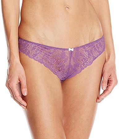 Madison  lilac   black thong cut