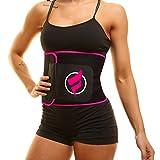 Fitru Waist Trimmer Weight Loss Ab Belt for Women & Men - Waist Trainer Stomach Wrap (Pink, 10' X 50')