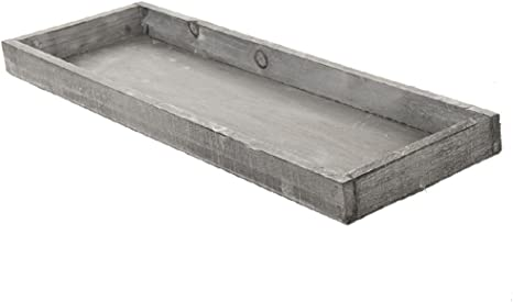 Schreiber Deko Dekotablett Holztablett Grau Washed 42x14 Cm 1 Stück Amazon De Küche Haushalt
