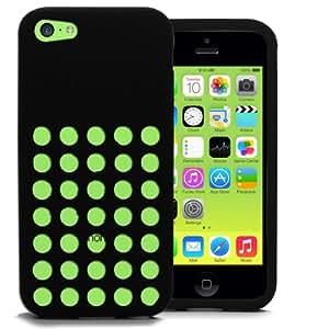 Accessory Maste - Carcasa para Apple iPhone 5C, fabricada en silicona, color negro