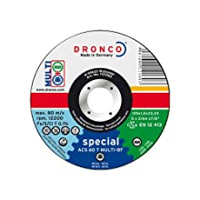 DRONCO ACS60TMulti115 - Disco de corte metal ACS 60 / ACS 46 T Multi Special, 115 x 1,2 mm