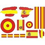 Lote 3 pegatinas vinilo impreso para coche, pared, puerta, nevera, carpeta, etc. Bandera aviacion espana: Amazon.es: Coche y moto