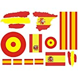 lote Pegatina vinilo para coche, pared, puerta, nevera, carpeta, etc. Bandera espana