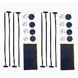 8milelake Electric Radiator Fan Tie Strap Mounting Kit Plastic Rod Mounting Kit ( Pack of 2)