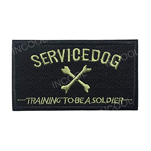 Service Dog Embroidered Embroidery Needlework Sewing Patch Patchwork Training to Be a Soldier Military Morale Emblem Appliques Badges Patches