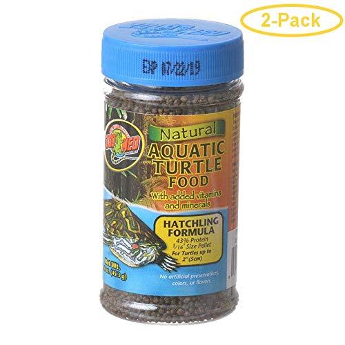 Zoo Med Natural Aquatic Turtle Food - Hatchling Formula (Pellets) 1.9 oz - Pack of 2 ()