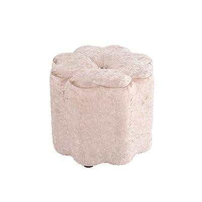 Yushesen Taburete pequeño, Cambio de Banco de Zapatos Mesa de té Sentado Esteras de Esponja Taburete de Madera Maciza Banco Infantil 29 * 29CM (Color: Marron, Tamaño: 29 * 29CM): Hogar