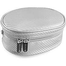 Geekria Soft Shell Headphone Pouch for Skullcandy HESH 3, Crusher Bluetooth, Crusher, Skullcandy Navigator, Aviator, Edifier W830BT, W688BT/Carrying Bag/Protective Travel Case (Silver)