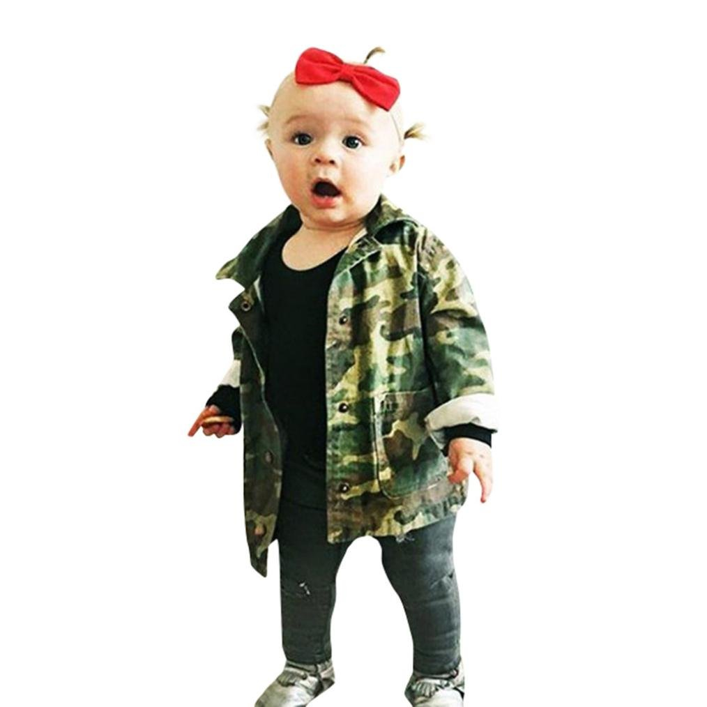 Staron Infant Baby Camouflage Denim Coat Cloak Jacket Kids Girl Boy Thick Clothes