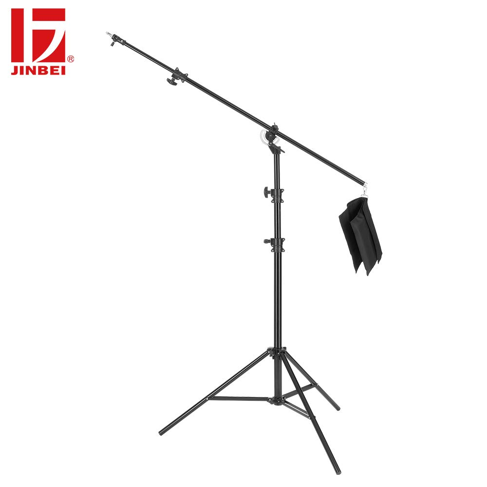 JINBEI M-3 Double Duty 2-in-1 16ft / 500cm Rotatable Studio Boom Stand/Light Stand 22lb Load with Sandbag for Studio Photography Video