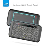 Mini Backlight Keyboard, WeChip 2.4G Wireless Keyboard Smart Touch Pad Remote Control with IR Learning Function for Android TV Box/PC/Pad/Smart TV/HTPC and More