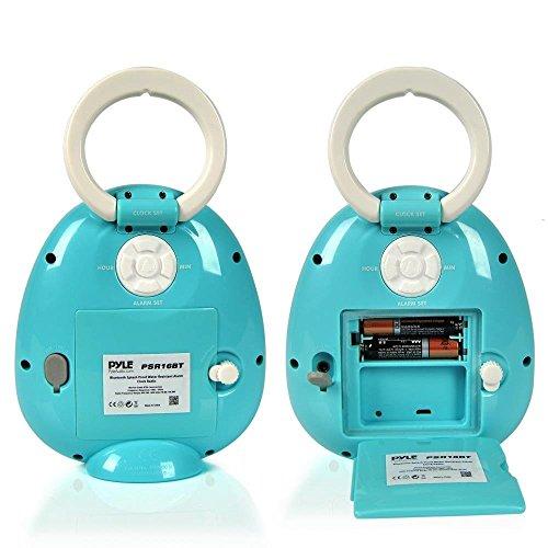 Pyle–Mini impermeabile doccia Bluetooth altoparlante Radiosveglia con Sintonizzatore FM
