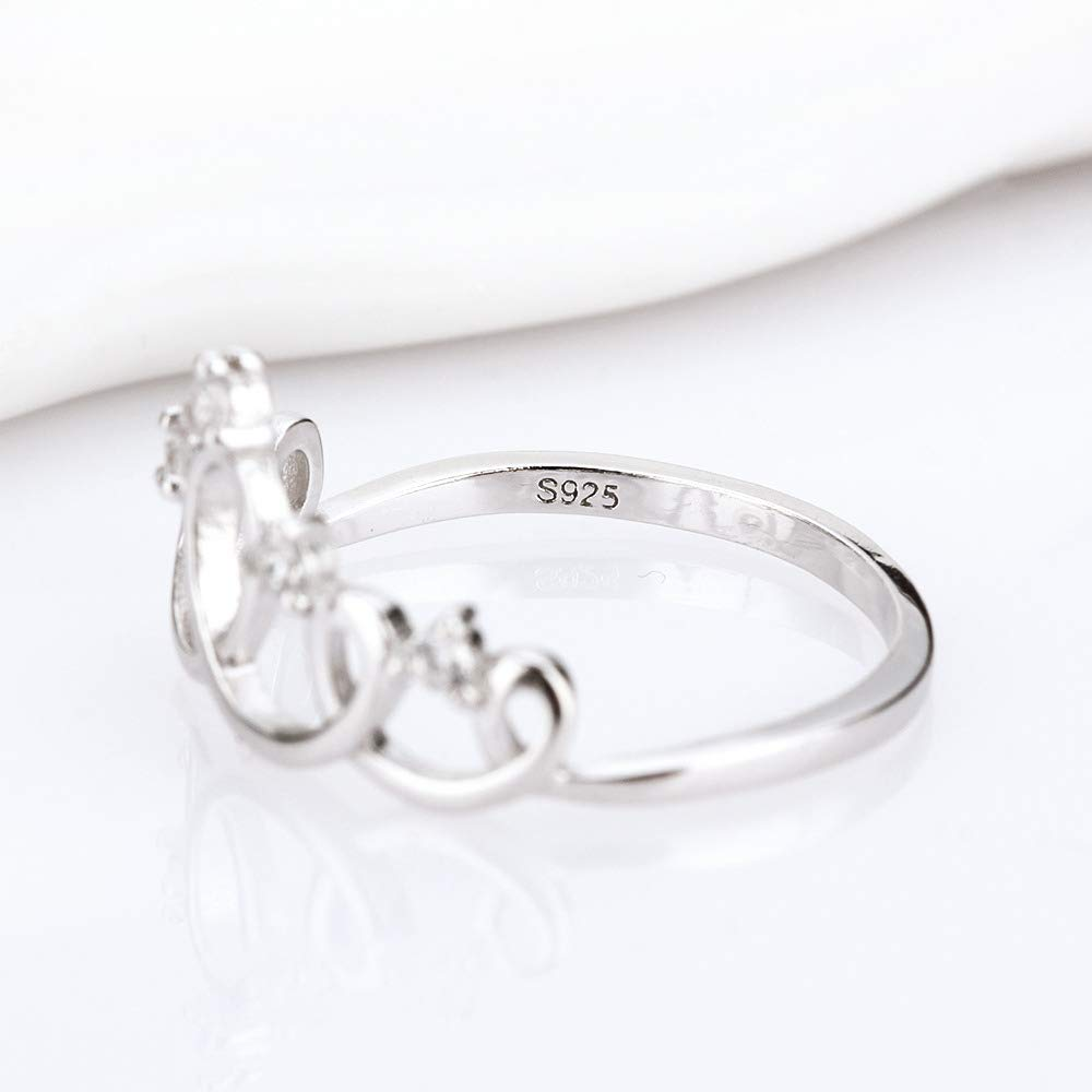 Amazon.com: AIM Jewelry Anillo de princesa de plata de ley ...