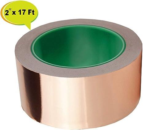2 inch X 18 ft for Guitar and EMI Shielding Slug Repellen... Copper Foil Tape