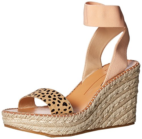 Dolce Vita Women's PAVLIN Wedge Sandal, Leopard Calf Hair, 8