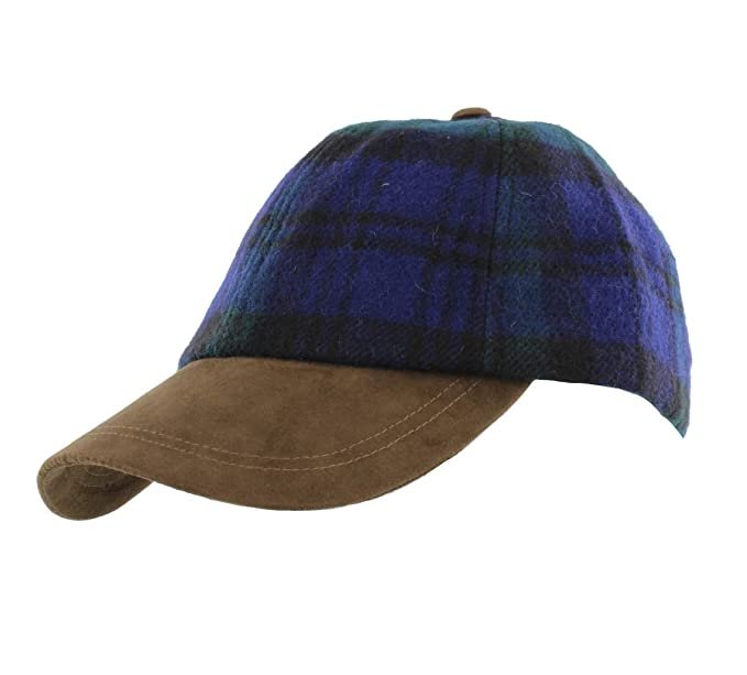 0d50d8d9e6263 Failsworth Harris Tweed Baseball Cap (Black Watch)  Amazon.co.uk  Clothing