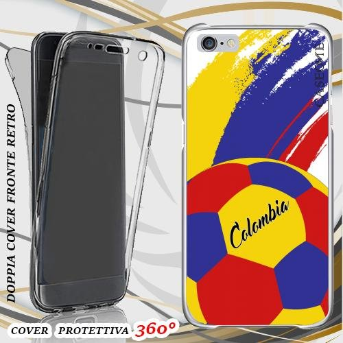 CUSTODIA COVER CASE COPPA AMERICA PALLONE COLOMBIA PER IPHONE 6 PLUS FRONT BACK