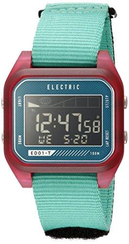 Electric Unisex EW0120020070 Digital Display Quartz Blue Watch