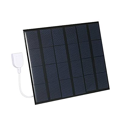 Decdeal 6V Polycrystalline Silicon Solar Panel Power Bank Solar Cell USB Charger for Smart Phone