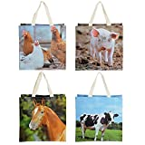Esschert Design TP140 Shopping Bag Farm Animal, Assorted